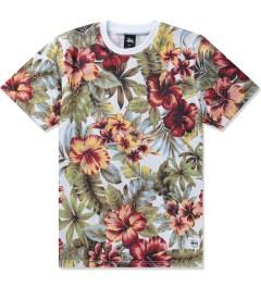 Stussy Natural Island Flower Mesh T-Shirt Picutre