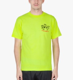 The Hundreds Safety Green Double Palm T-Shirt Model Picutre
