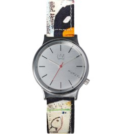 KOMONO KOMONO X JEAN-MICHEL Tenor Wizard Print Basquiat Series Watch Picutre
