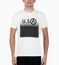 U.S. Alteration White AS14 USA T-Shirt Model Picutre
