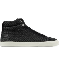VEJA Black Esplar High Top Leather Shoes Picutre