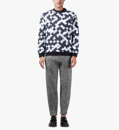 MSGM Speckle Grey Pantalone Trousers Model Picutre