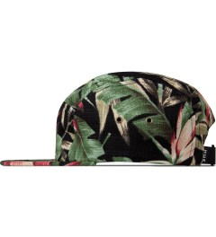 HUF Black Waikiki Box Logo Volley Cap Model Picutre