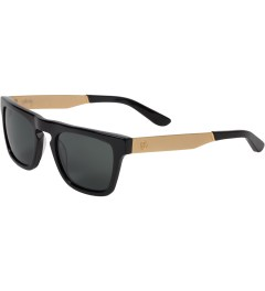 Stussy Black/Gold/Black Louie Sunglasses Model Picutre