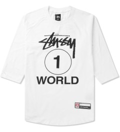 Stussy White One World Baseball T-Shirt Picutre