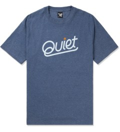 The Quiet Life Blue Heather Quiet Script T-Shirt Picutre