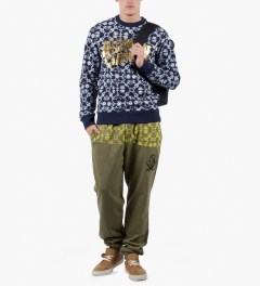Billionaire Boys Club Dusky Green Fantail Sweatpant Model Picutre