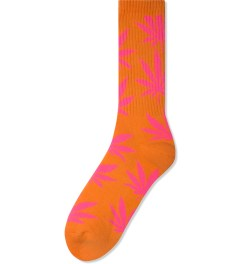 HUF Orange/Pink Glow in the Dark Plantlife Crew Socks Picutre