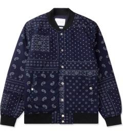 Liful Navy Paisley Blouson Jacket Picutre