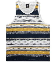 Stussy Navy Dot Tom Tank Top Picutre
