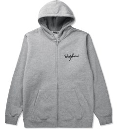 Undefeated Heather Grey Bat Day Zip Hoodie Picutre