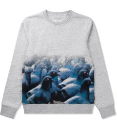 Staple Heather Grey Pixel Pigeon Sweater Picutre