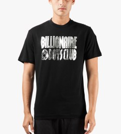 Billionaire Boys Club Black S/S Straight Logo T-Shirt Model Picutre
