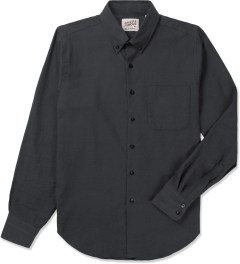 Naked & Famous Charcoal Twisted Yarn Slim Shirt Picutre