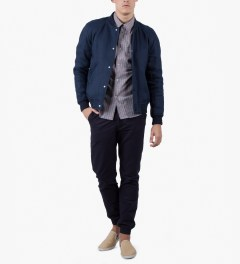 A.P.C. Red Army Check Shirt Model Picutre