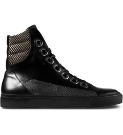 Raf Simons Black Laces High Sneakers Picutre