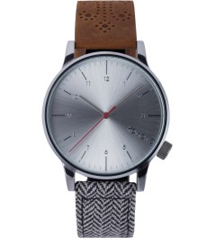 KOMONO WALNUT/HERRINGBONE WINSTON GALORE WATCH Picutre