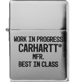 Carhartt WORK IN PROGRESS Silver/Black Zippo Lighter Picutre