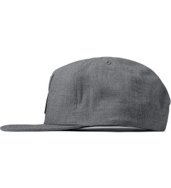 10.Deep Heather Grey Larger Living Snapback Cap Model Picutre