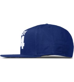 Stussy Royal Blue No.4 Bambooze Snapback Cap Model Picutre