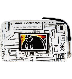 The Hundreds White Geo Slate Zipper Wallet Picutre