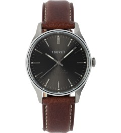 TSOVET Silver/Dark Brown SVT-QS40 Watch Picutre