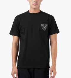 The Hundreds Black Pirate Pocket T-Shirt Model Picutre