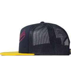 The Hundreds Navy Books Snapback Cap Model Picutre