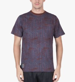 The Hundreds Maroon Focus Pocket T-Shirt Model Picutre