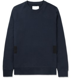 Matthew Miller Navy Rouge Stripe Sweater Picutre