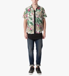 HUF Tan Waikiki S/S Woven Shirt Model Picutre