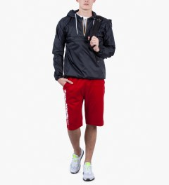 The Hundreds Red Bars Sweat Short Model Picutre