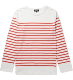 A.P.C. Red Long Sleeve Traditional Sailor T-Shirt Picutre