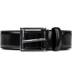 Thom Browne Black Buffed Calfskin Belt Picutre