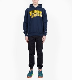 Billionaire Boys Club Navy Billionaire Boys Club x Champion S/S Classic Arch Logo Pullover Hoodie Model Picutre