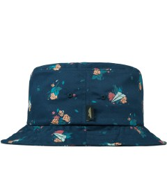 Benny Gold Navy Dolores Floral Bucket Hat Model Picutre