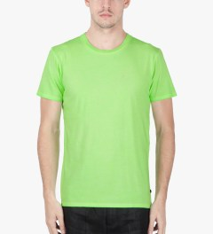Surface to Air Fluorescent Green Washed Out T-Shirt Model Picutre