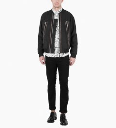 Surface to Air Black Zack Bomber Jacket Model Picutre