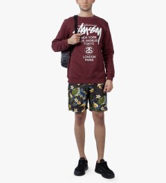 Stussy Black Paradise Short Model Picutre