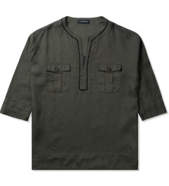 JohnUNDERCOVER Green Linen Tunic Shirt Picutre