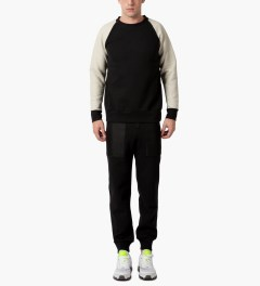 Christopher Raeburn Black/Cream Tech Raglan Sweater Model Picutre