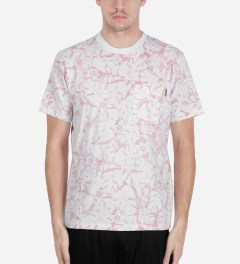 Carhartt WORK IN PROGRESS Red/White Lotus Print S/S Howe T-Shirt Model Picutre