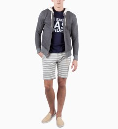 CASH CA Grey Cotton Jersey Short Model Picutre