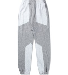 Shades of Grey by Micah Cohen Light Heather Grey Oatmeal Paneled Knit Lounge Pant Picutre