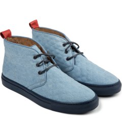 Del Toro Denim Quilted Chukka Model Picutre