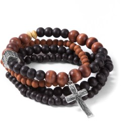 Icon Brand Brown/Black/Orange Beads Bracelet Picutre