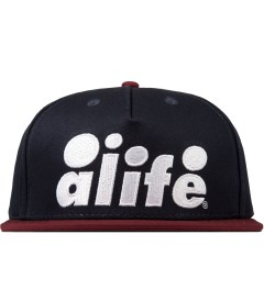 ALIFE Dark Navy Antique A Snapback Cap Picutre