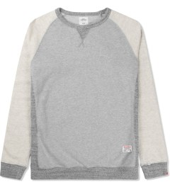 Bedwin & The Heartbreakers Grey L/S Freedom C-neck Lou Sweater Picutre