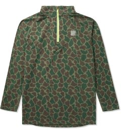 Undefeated Olive Camo Technical Half Zip Jacket Picutre