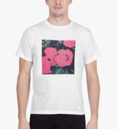 Deluxe White Flowers T-Shirt Model Picutre